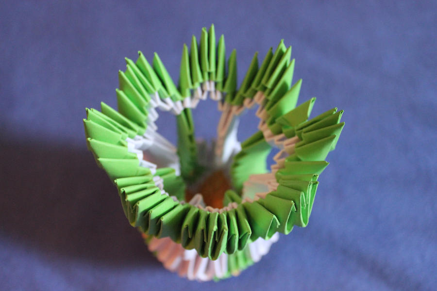 HOW TO MAKE 3D ORIGAMI VASE V1 | DIY PAPER VASE HANDMADE ... | 600x900