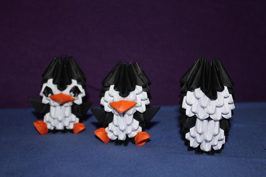 Easy 3D Origami Penguin