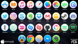 StylemacOS : 32 Icons PREVIEW