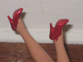 Red Ooak Shoe (for Ariana Grande barbie) by Oaak-Barbie-dolls