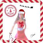 Ooak Barbie Christmas Card