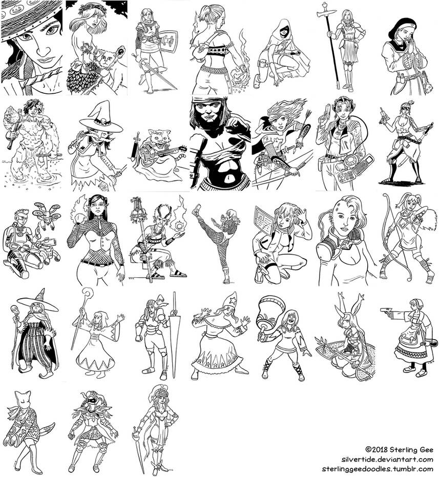 31 Day RPG Challenge Inktober 2018 by Silvertide