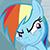 Rainbow Dash Planning Something Evil (Emoticon)