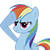 Rainbow Dash Salute (Emoticon)