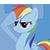 Rainbow Dash Salute (Emoticon)