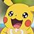 Pikachu enjoying his donut (Emoticon)