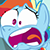 Rainbow Dash Shocked (Emoticon) by PolarStar