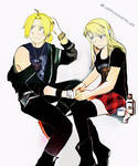 Ed x Winry - Band AU (2) by Cherryliciousss