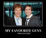 Tennant and Cumberbatch