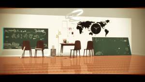 [MMD Stage DL]Private tutor  room[Huaan] by Bananasteamedstuff
