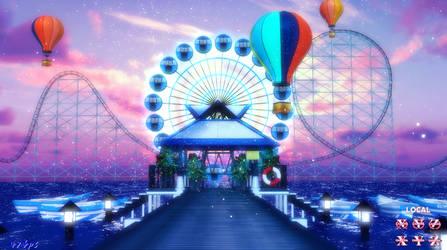 [MMD Stage DL]SummerAdvisory-Amusement Park[Huaan]