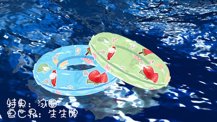 [MMD Props DL]Swimming Ring [Huaan]