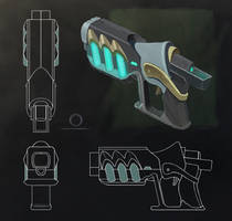 The Gun [2d concept art] by SatenkoDmitry