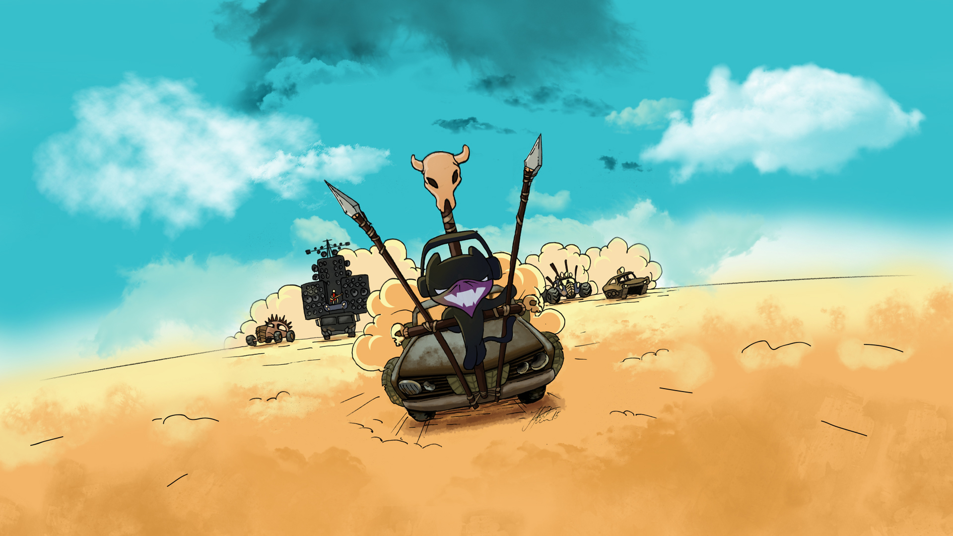 Monstercat Mad Cat (Mad Max) Wallpaper by JovicaSmileski on