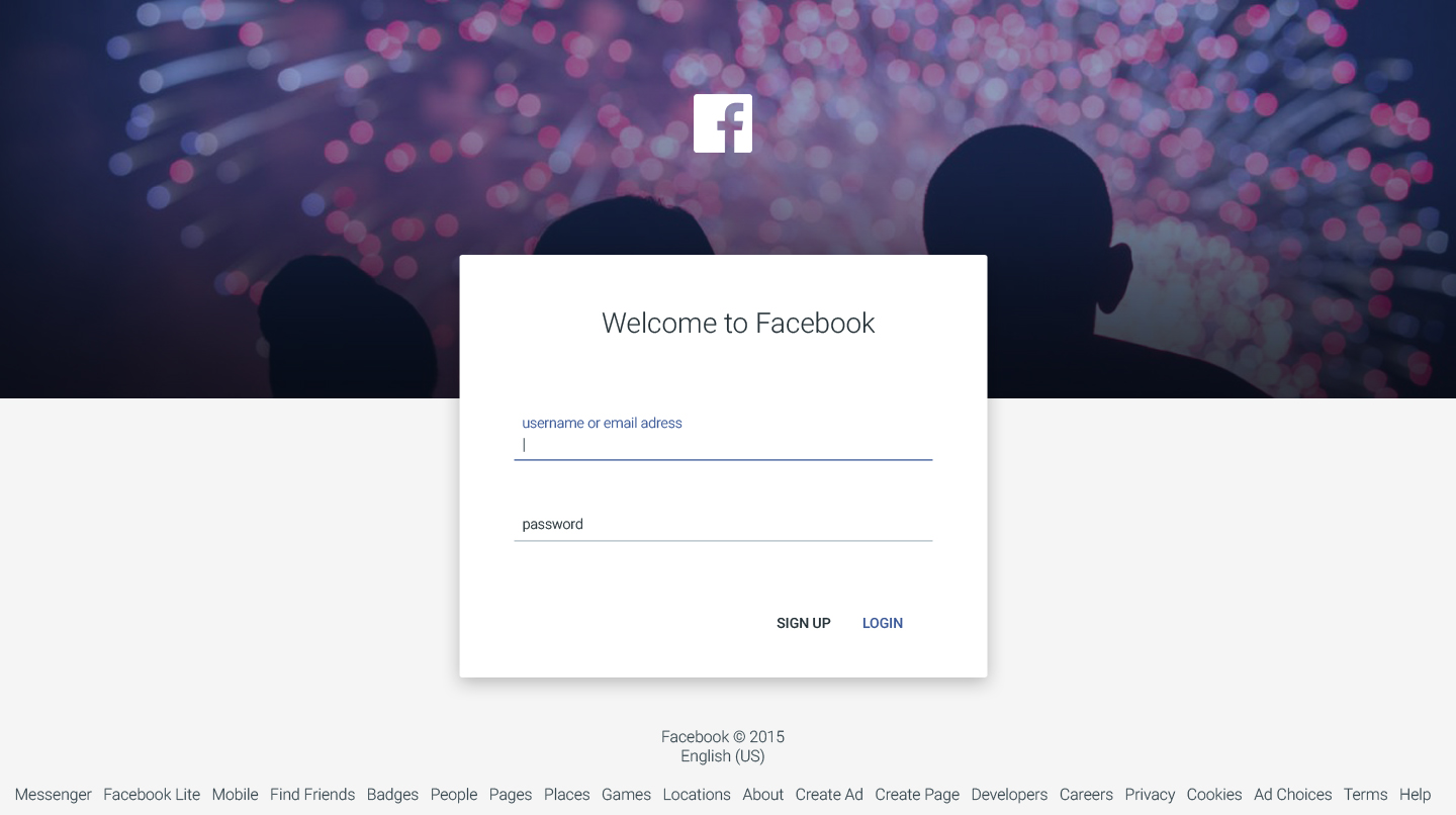 Facebook Login/Sign up with Material Design by