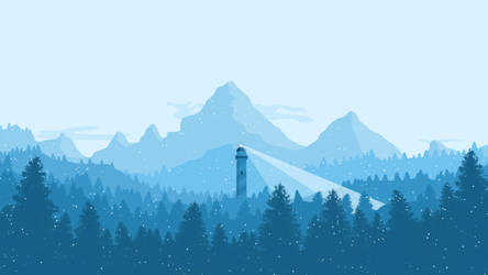 Flat Landscape (Winter Edition) by JovicaSmileski