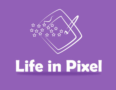 Life in Pixel Logo by mafromage