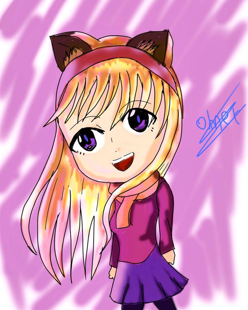 cat girl by omerdarkss