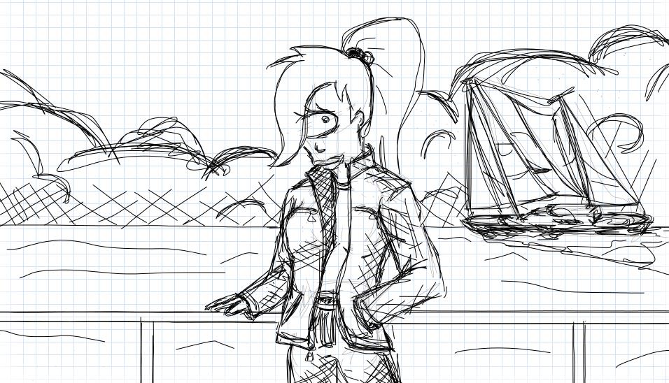 Leela sketch by 7yashka7