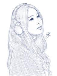 IU Sketch by RumR