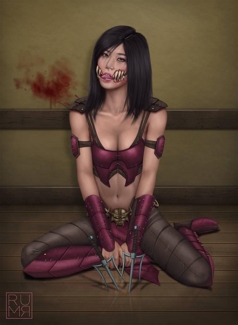 Mileena (Maskless) by RumR