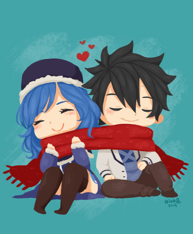 Gruvia: Scarf by invaderk8