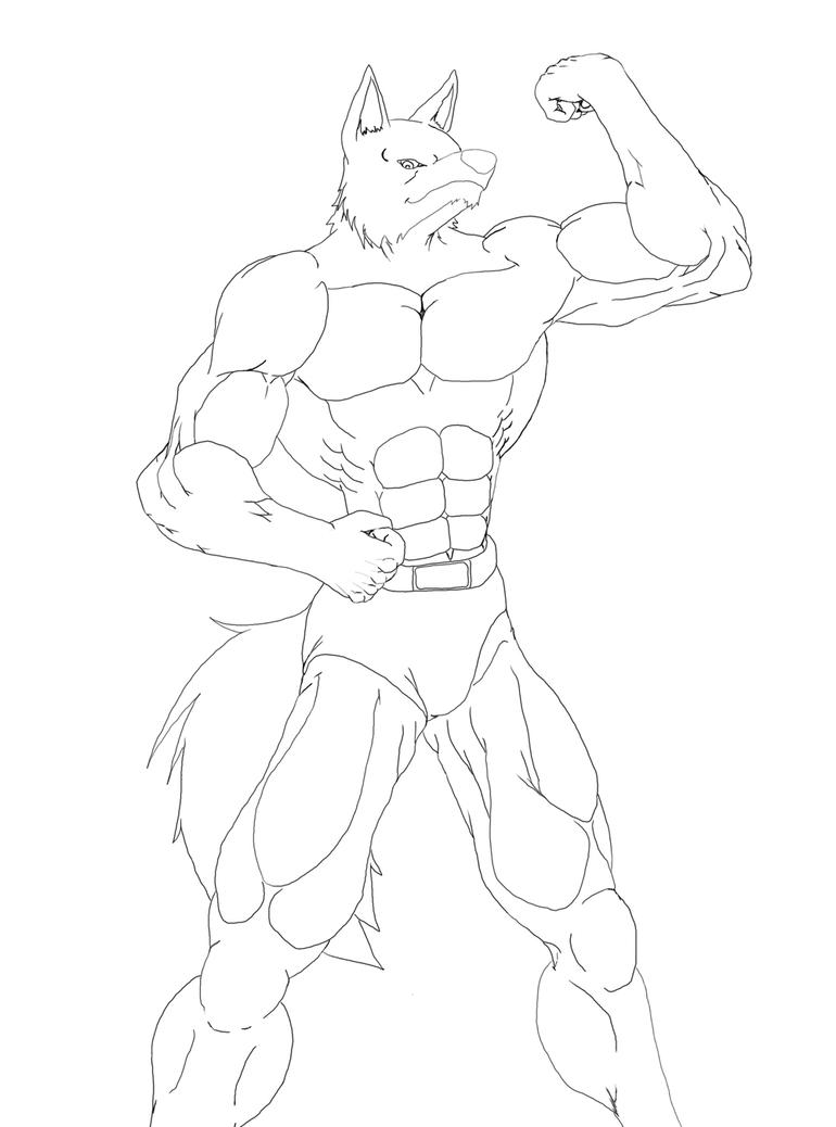 Big Muscle Wolf by WolfAli