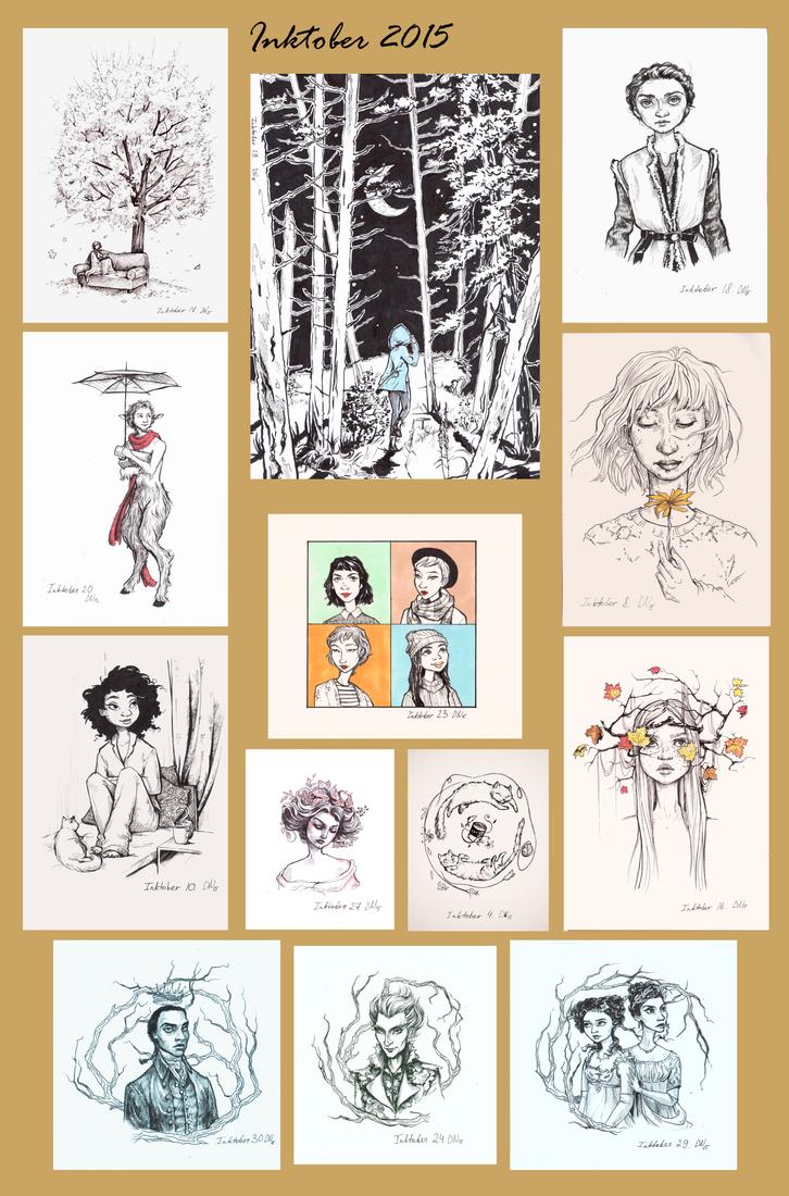 Inktober 2015 favourites by ChocolatinaChip
