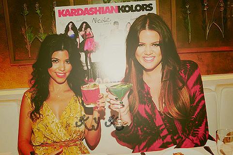 Khloeee y Kourtt by kardashianfan
