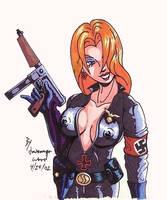 Nazi Germany Sexy Lady by Joemanga