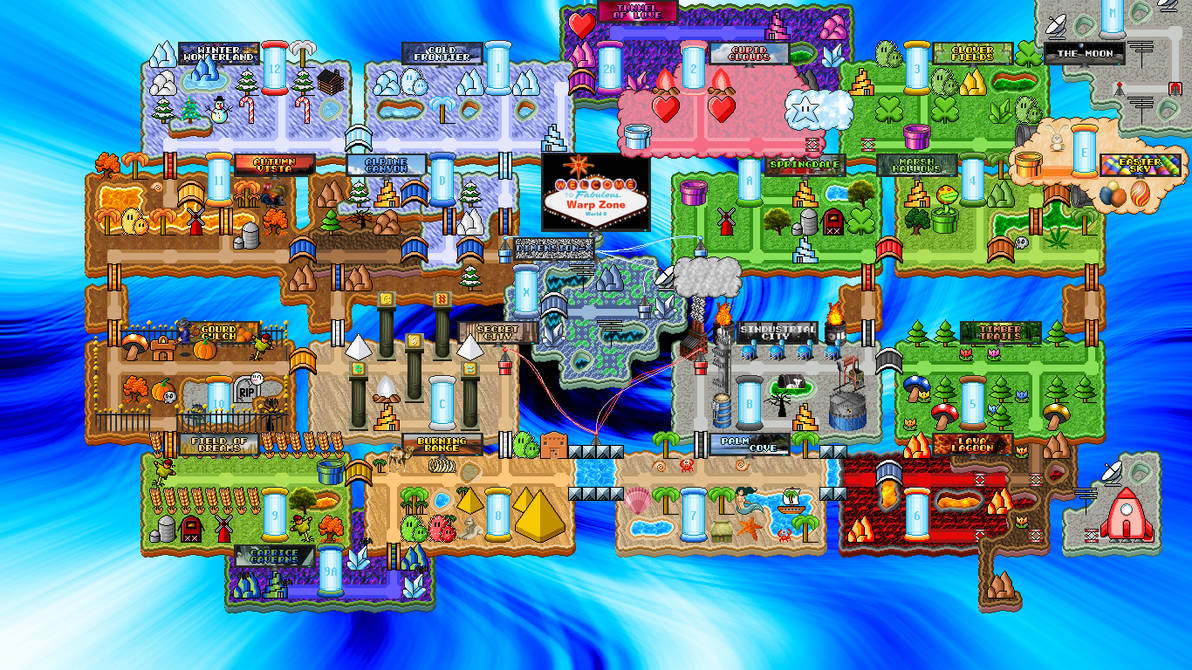 Welcome To Fabulous Warp Zone World 0 By Texace146 On Deviantart