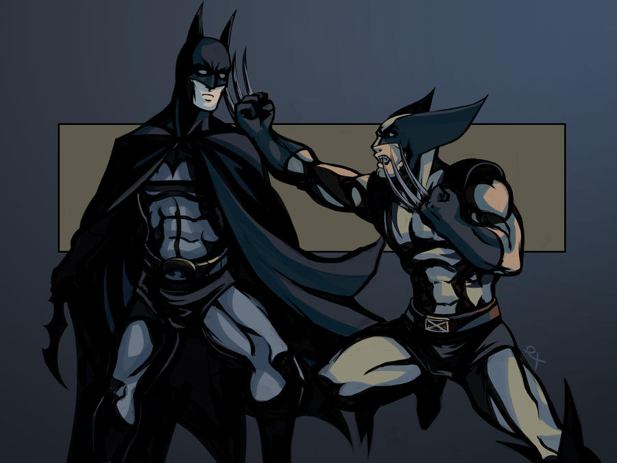Batman vs Wolverine by ex-m