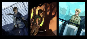 Hunger Games Triptych by ex-m