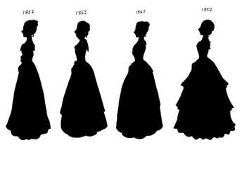 Victorian Silhouettes 1837-52 by lady-of-crow