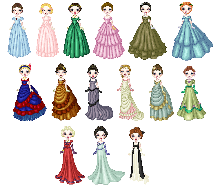 how to draw a lady in a dress
