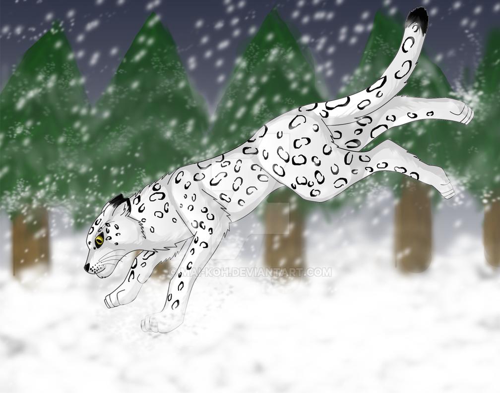 leopardo de las nieves by mai-koh on DeviantArt