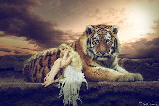 white fairy and the tiger