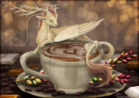 Commission Speedpainting: Coffee Artist by HelenDafneART