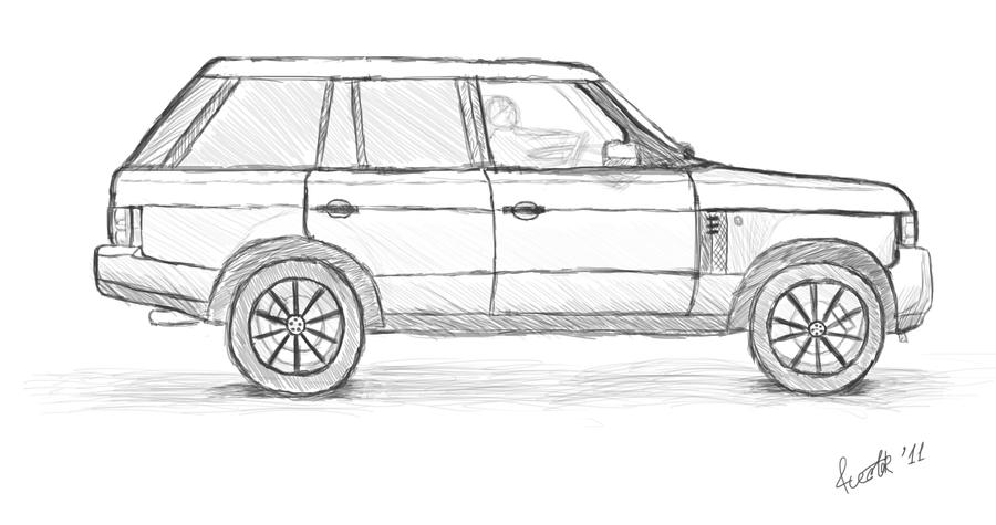 range rover drawing] - 28 images - land rover range rover vector ...