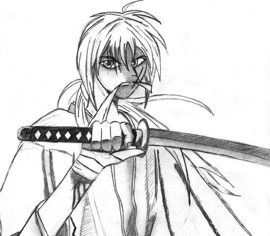 Kenshin Sketch by Rayne-Strife