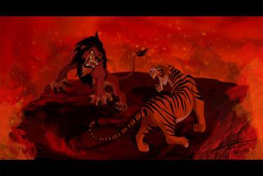 Scar VS Shere Khan by Grincha