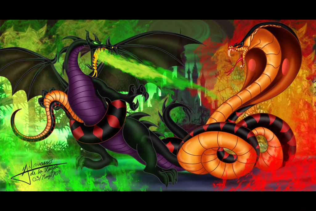 Maleficent vs Jafar by Grincha
