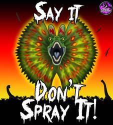 Say It, Don't Spray It!