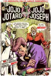 JoJo Jotaro and JoJo Joseph by Nikunja