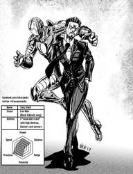 AU Tony Stark and stand Iron Man by Nikunja