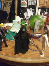 Luke and Leia vs Sidious.