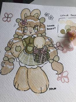 Sketchbook adopt #4 || Flower basket