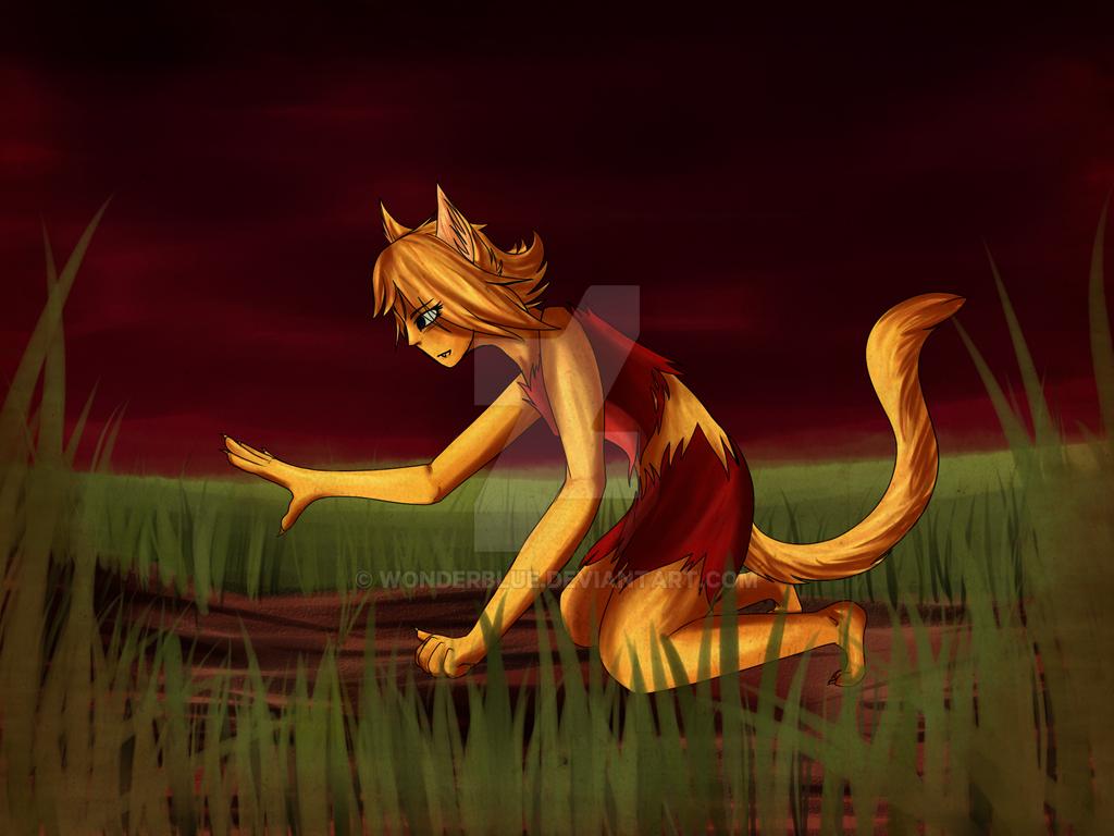 Clover Werecat-request by wonderblue