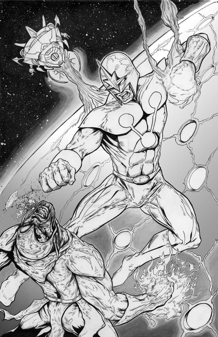 Nova vs Super Skrull by JaySloanArt