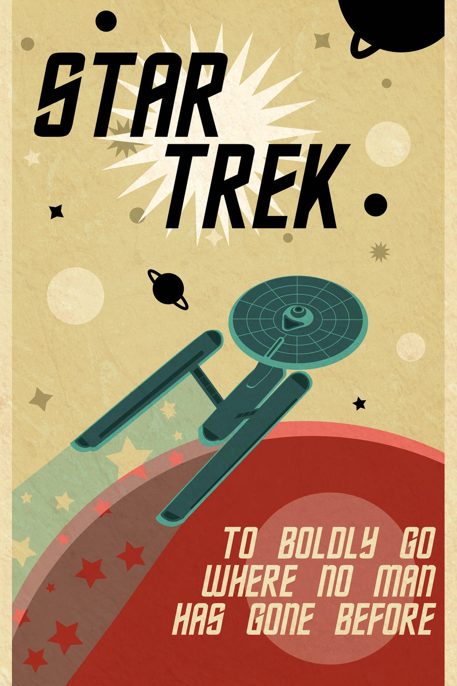Retro Star Trek Poster by killashandra-ree
